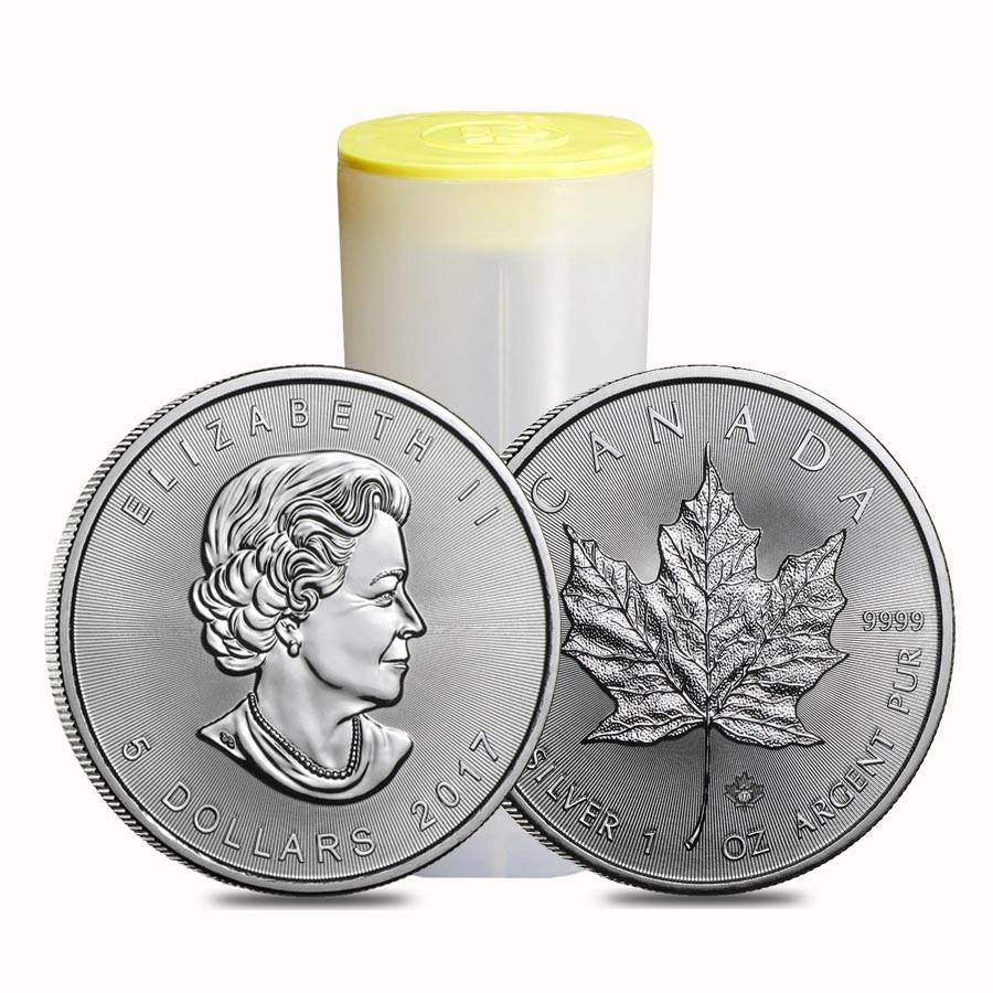 2017 1 Oz Silver Canadian Maple Leaf 5 Coin