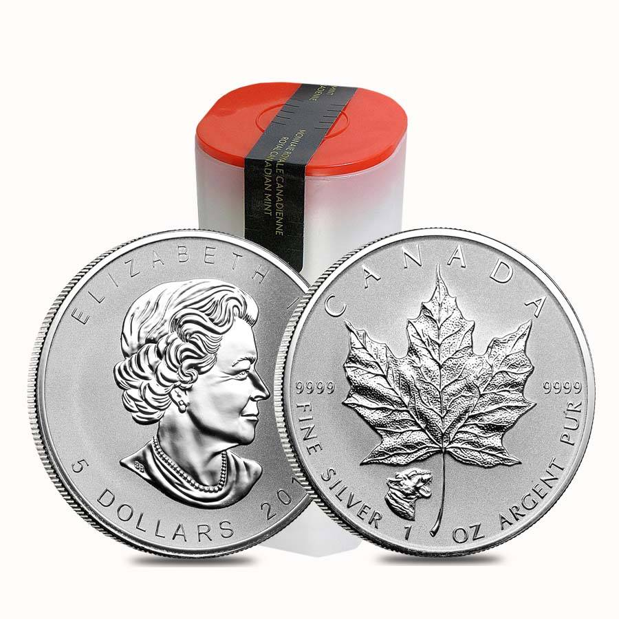 Silver Reverse Proof Coin 2017 Wild Canada Series Maple Leaf Cougar Privy 1 oz