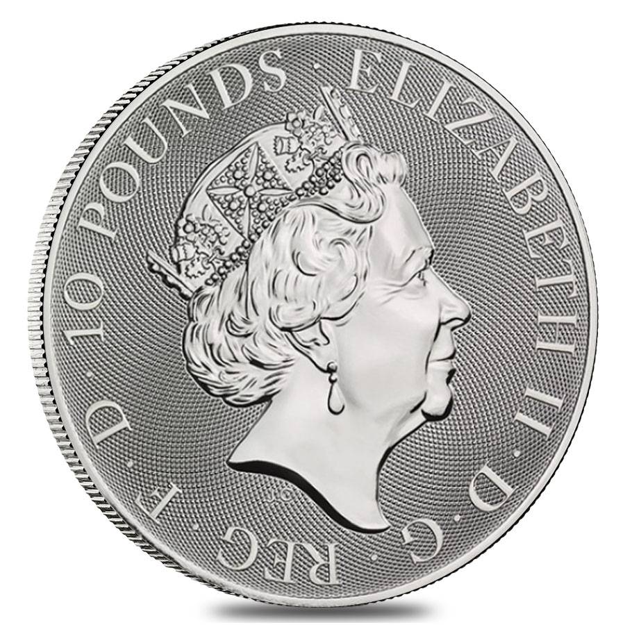 Lot of 5-2019 U.K 2 Pound Silver The Royal Arms .999 1 oz Brilliant Uncircula