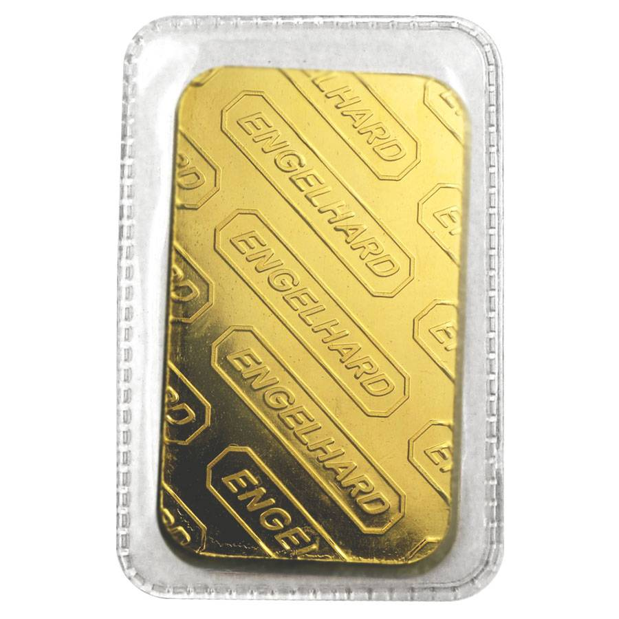 1 Oz Engelhard Gold Vintage Bar 9999 Fine With In Assay