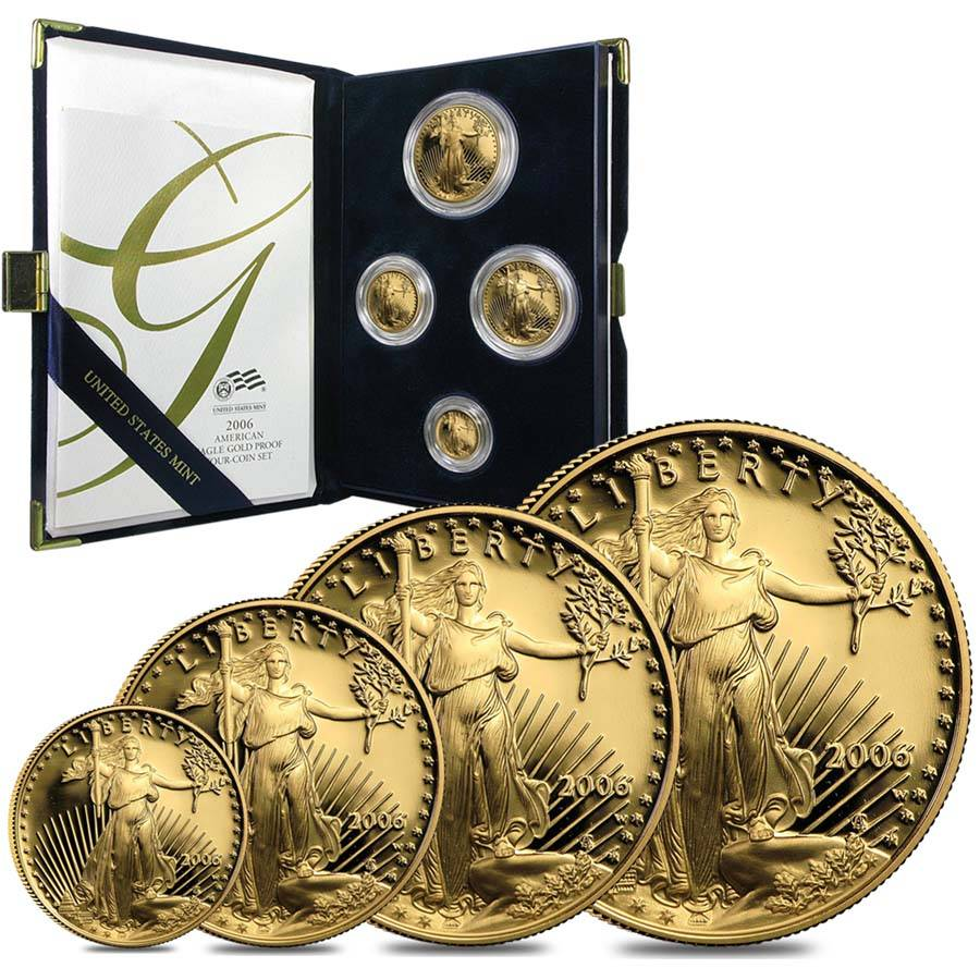 2006 W Gold Proof American Eagle Set Bullion Exchanges