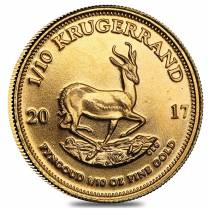 2017 South Africa 1/10 oz Gold Krugerrand BU