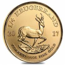 2017 South Africa 1/4 oz Gold Krugerrand BU