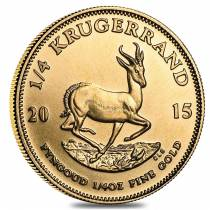 2015 South Africa 1/4 oz Gold Krugerrand BU