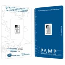 1 gram PAMP Suisse Lady Fortuna Platinum Bar .9995 Fine (In Assay)