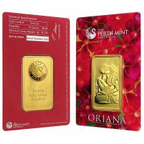 1 oz Perth Mint Oriana Design Gold Bar .9999 Fine (In Assay)