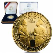2007 W Gold $5 Proof Commemorative Jamestown (w/Box & COA)