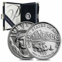 2002 W 1/10 oz Platinum Proof Eagle W/Box & COA
