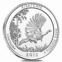 2015 5 oz America the Beautiful ATB Silver Kisatchie National Forest Coin