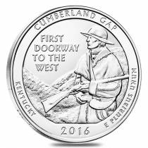 2016 5 oz Silver America the Beautiful ATB Cumberland Gap National Historical Park Coin