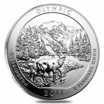 2011 5 oz Silver America the Beautiful ATB Olympic National Park Coin