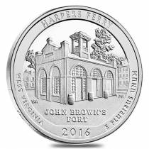 2016 5 oz Silver America the Beautiful ATB Harpers Ferry National Historical Park Coin