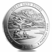 2014 5 oz Silver ATB Great Sand Dunes National Park Coin