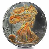 2003 1 oz American Silver Eagle $1 (Gold Plated) Coin
