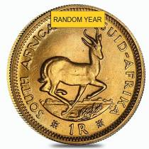 South Africa 1 Rand Gold Coin AU (Random Year)