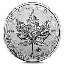 2017 1 oz Palladium Canadian Maple Leaf Coin $50 .9995 Fine BU (Sealed)