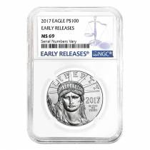 2017 1 oz Platinum American Eagle NGC MS 69 Early Releases