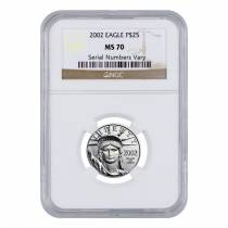 2002 1/4 oz Platinum American Eagle $25 NGC MS 70
