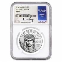2016 1 oz Platinum American Eagle $100 NGC MS 69 First Day of Issue
