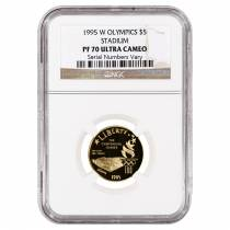 1995 W Gold $5 Commemorative Olympic Stadium NGC PF 70 UCAM