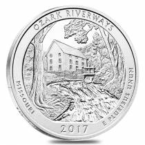 2017 5 oz Silver America the Beautiful ATB Missouri Ozark National Scenic Riverways Coin