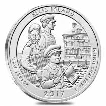 2017 5 oz Silver America the Beautiful ATB New Jersey Ellis Island (Statue of Liberty National Monument) Coin