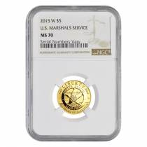 2015 W Gold $5 Commemorative US Marshals Service NGC MS 70