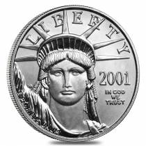 2001 1/4 oz $25 Platinum American Eagle Coin BU