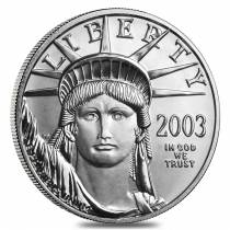 2003 1/2 oz $50 Platinum American Eagle Coin BU