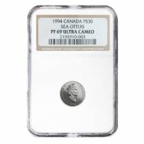 1994 1/10 oz $30 Canada Proof Platinum Sea Otter NGC PF 69 UCAM