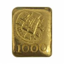 1.2057 oz Chinese Tak Cheong 1 Tael Gold Biscuit .990 Fine Gold