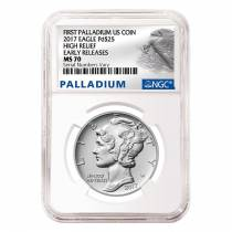 2017 1 oz Palladium American Eagle NGC MS 70 Early Releases