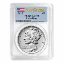 2017 1 oz Palladium American Eagle PCGS MS 70 First Strike