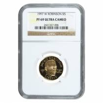 1997 W Gold $5 Proof Commemorative Jackie Robinson NGC PF 69 UCAM