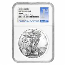 2018 1 oz Silver American Eagle $1 Coin NGC MS 70 First Day of Issue
