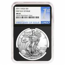 2018 1 oz Silver American Eagle $1 Coin NGC MS 69 First Day of Issue (Retro)