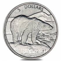 1999 1/10 oz Platinum Canadian Polar Bear $5 Coin BU