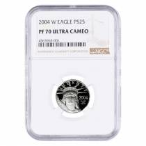 2004 W 1/4 oz $25 Platinum American Eagle Proof Coin NGC PF 70 UCAM