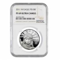 2011 W 1 oz $100 Platinum American Eagle Proof Coin NGC PF 69 UCAM