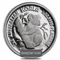 1/10 oz $15 Platinum Australian Koala Proof Coin (Random Year)