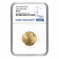2018 1/4 oz Gold American Eagle NGC MS 70 Early Releases
