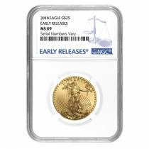 2018 1/2 oz Gold American Eagle NGC MS 69 Early Releases