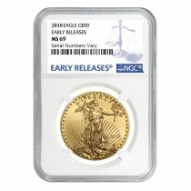 2018 1 oz Gold American Eagle NGC MS 69 Early Releases