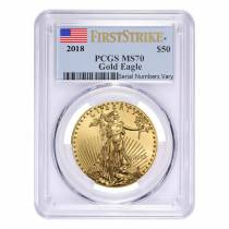 2018 1 oz Gold American Eagle PCGS MS 70 First Strike