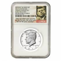 2017 S Proof Silver Kennedy Half Dollar Limited Edition NGC PF 69 ER (Kennedy Label)