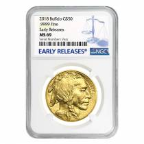 2018 1 oz Gold American Buffalo NGC MS 69 Early Releases