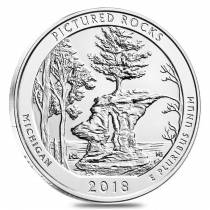 2018 5 oz Silver America the Beautiful ATB Michigan Pictured Rocks National Lakeshore Coin