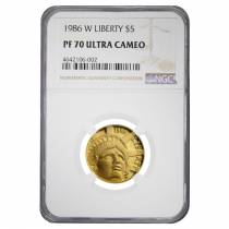 1986 W Gold $5 Proof Statue of Liberty Commemorative NGC PF 70 UCAM