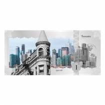 2017 5 Gram Cook Islands Skyline Foil Note $1 - Toronto Silver Note .999 Fine