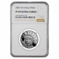 2007 W 1/2 oz $50 Platinum American Eagle Proof Coin NGC PF 69 UCAM